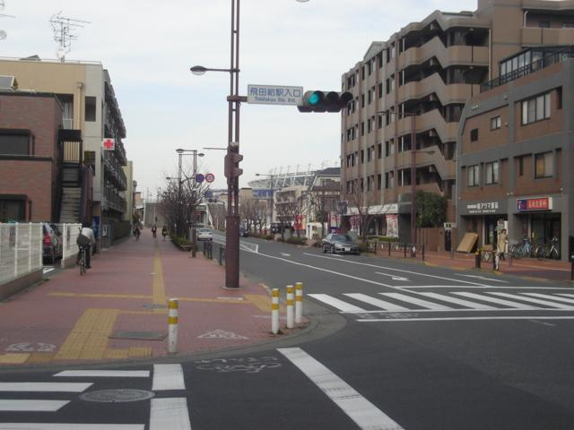 スタジアム途中横断歩道